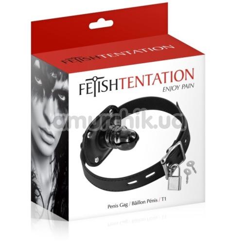 Кляп с фаллоимитатором Fetish Tentation Penis Gag T1, черный