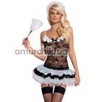 Костюм горничной Obsessive Housemaid, чёрный - Фото №1