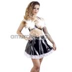 Костюм официантки Black Level 2850680 чёрный: юбка + бюстгальтер - Фото №1
