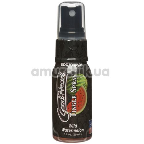 Расслабляющий спрей для минета Doc Johnson GoodHead Tingle Spray Wild Watermelon - арбуз, 29 мл - Фото №1