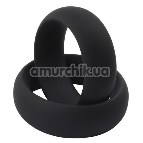 Эрекционное кольцо GK Power Infinity Silicone Ring M, черное