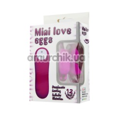 Вибратор-бабочка Mini Love Eggs, розовый