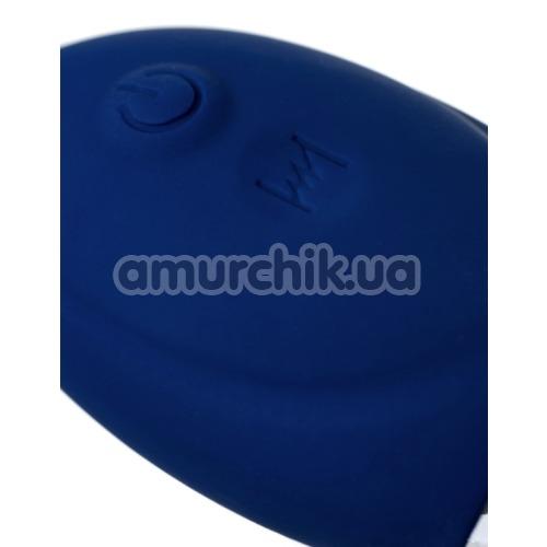 Анальная пробка с вибрацией O'Play Unico, синяя
