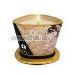Свеча для массажа Shunga Massage Candle Exotic Vanilla Fetish - ваниль, 170 мл - Фото №1