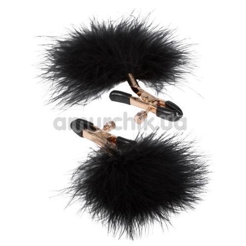 Зажимы для сосков Entice Accesories Feather Nipplettes, черные - Фото №1