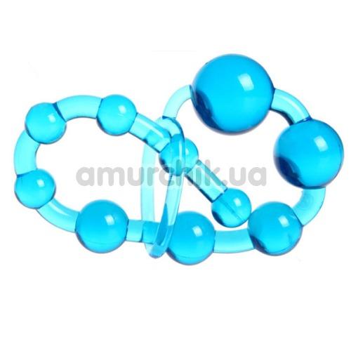 Анальная цепочка Anal Beads с петелькой, голубая