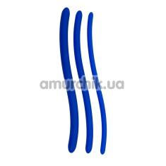 Набор из 3 уретральных вставок Blue Silicone Dilator, голубой