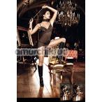 Комбинация Mesh And Lace Chemise Black, черный - Фото №1