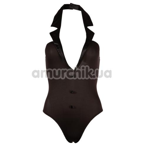 Костюм зайчика Cottelli Collection Costumes чёрный: боди + нарукавники + ушки