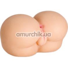 Искусственная вагина и анус Real Body Nice Ass, телесная - Фото №1