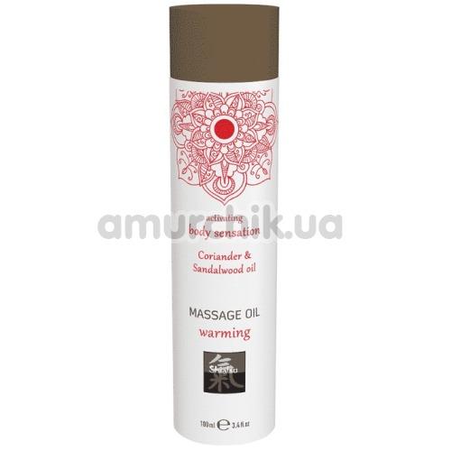Массажное масло с согревающим эффектом Shiatsu Massage Oil Warming Coriander & Sandalwood Oil - кориандр и сандаловое дерево, 100 мл - Фото №1