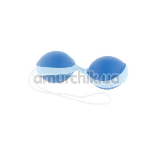 Вагинальные шарики Amor Gym Balls Duo, сине-голубые - Фото №1