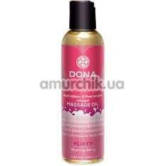 Массажное масло Dona Let Me Tease You Massage Oil Flirty Blushing Berry - красная ягода, 125 мл - Фото №1