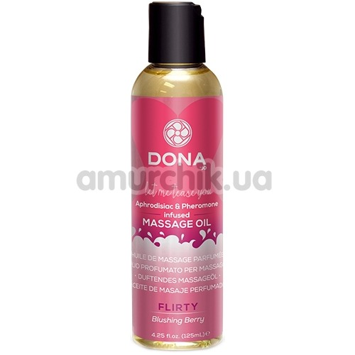 Массажное масло Dona Let Me Tease You Massage Oil Flirty Blushing Berry - красная ягода, 125 мл
