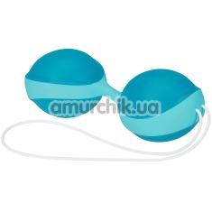 Вагинальные шарики Amor Gym Balls Duo, бирюзово-голубые - Фото №1