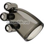 Мастурбатор для головки члена с вибрацией Vibrating Crystal Cap II, черный - Фото №1
