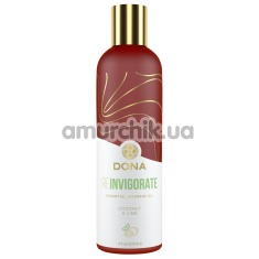 Массажное масло Dona Reinvigorate Coconut & Lime - кокос и лайм, 120 мл - Фото №1