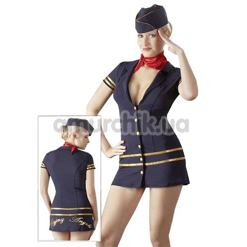 Костюм стюардессы Cotelli Collection: платье + шарфик + шапочка