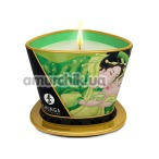 Свеча для массажа Shunga Massage Candle Exotic Green Tea - зеленый чай, 170 мл - Фото №1