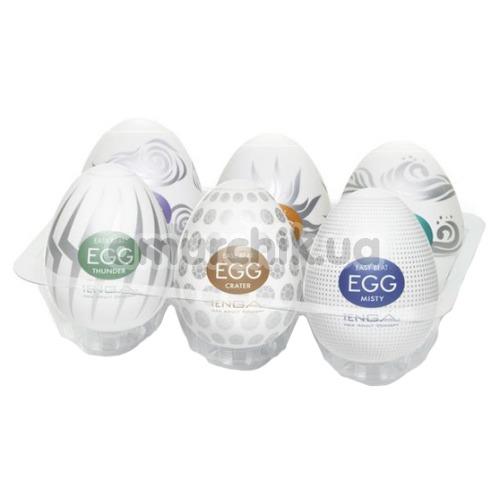 Набор из 6 мастурбаторов Tenga Egg Hard Boiled Package - Фото №1
