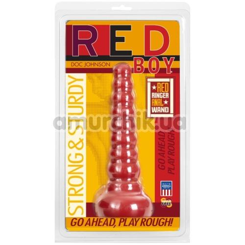 Анальная пробка Red Boy Strong & Sturdy Red Ringer Anal Wand, красная