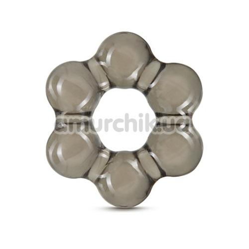 Эрекционное кольцо Stay Hard Thick Bead Cock Ring, черное - Фото №1