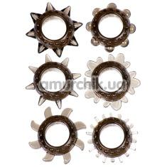 Набор из 6 эрекционных колец Linx Tickler Ring Set, серый - Фото №1