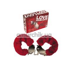 Наручники Love Handcuffs, красные - Фото №1