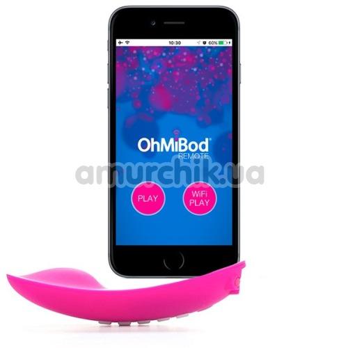 Клиторальный вибратор OhMiBod Lightshow, розовый - Фото №1