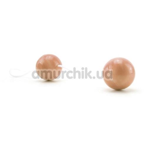 Вагинальные шарики Flip Loop, телесные - Фото №1