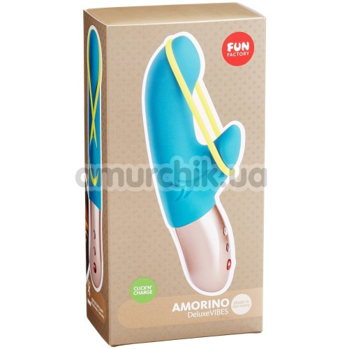 Вибратор Fun Factory Amorino DeluxeVibes, голубой
