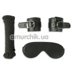 Бондажный набор Пикантные Штучки: наручники + веревка + маска - Фото №1