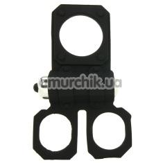 Виброкольцо Silicone Lovers Gear Ball Spreader Enhance, черное - Фото №1
