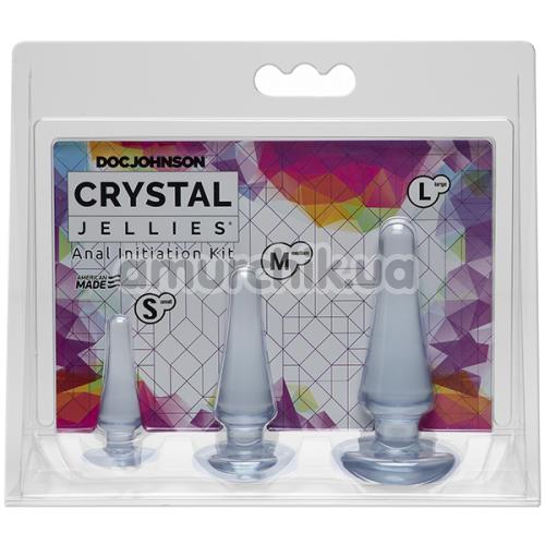 Набор анальных пробок Crystal Jellies Anal Initiation Kit, прозрачный