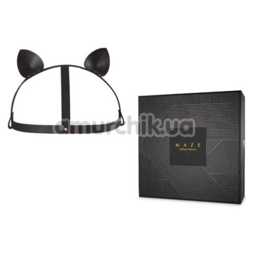 Маска Кошечки Bijoux Indiscrets Maze Head Harness With Cat Ears, черная