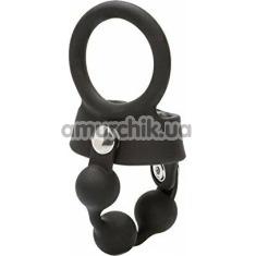 Эрекционное кольцо Weighted Ball Spreader, черное - Фото №1