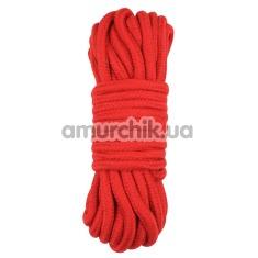Верёвка Behave Luxury Fetish Bind Love Rope, красная - Фото №1