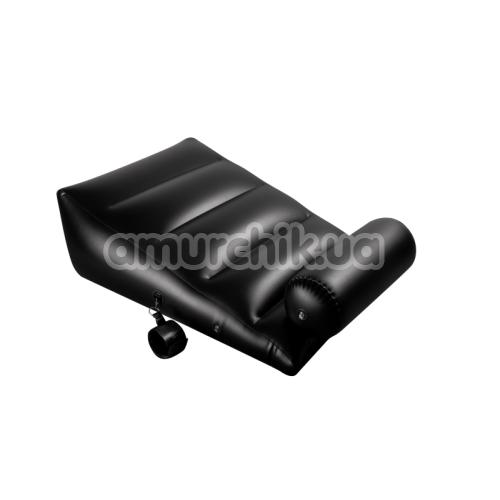 Надувная подушка для секса с фиксаторами Dark Magic, черная
