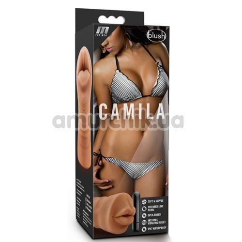 Симулятор орального секса с вибрацией M For Men Camila, телесный