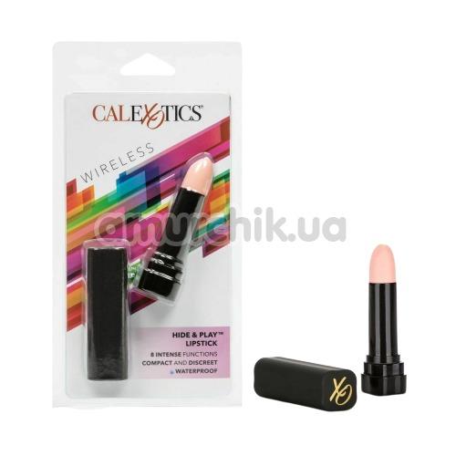 Клиторальный вибратор Hide And Play Lipstick, телесный
