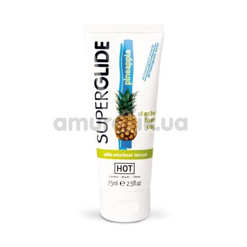 Оральный лубрикант Superglide Pineapple - ананас, 75 мл
