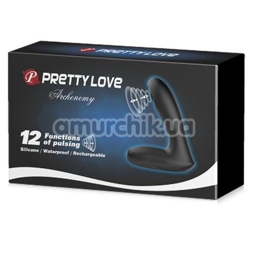 Вибростимулятор простаты с пульсацией Pretty Love Archenemy, черный