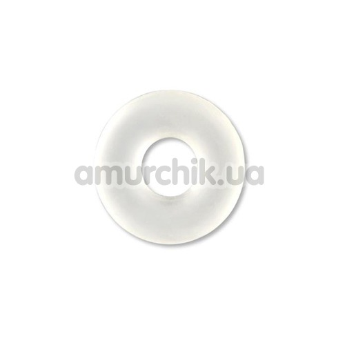 Эрекционное кольцо Stretchy Silicone Cockring, прозрачное - Фото №1