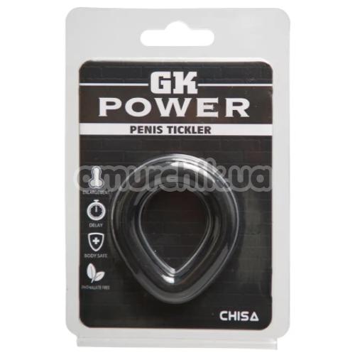 Эрекционное кольцо GK Power Penis Tickler, черное
