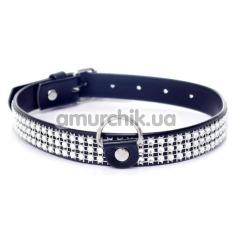 Ошейник Boss Series Fetish Collar With Crystals, черный - Фото №1