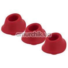 Набор насадок на симулятор орального секса для женщин Womanizer Premium, Classic (Size M), красный - Фото №1