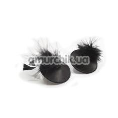 Украшения для сосков Bijoux Indiscrets Burlesque Pasties Feather, черные - Фото №1