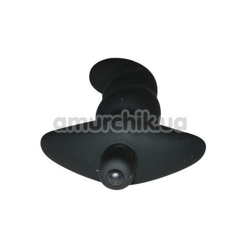 Вибростимулятор простаты Master Series Onyx Vibrating Silicone Anal Plug, черный