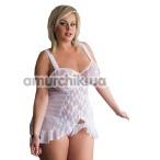 Комплект Bianca белый: комбинация + трусики-стринги - Фото №1