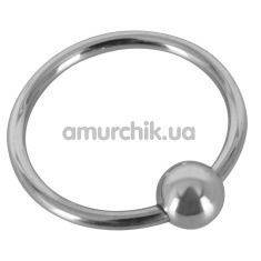 Эрекционное кольцо Sextreme Steel Glans Ring With Ball, 3 см - Фото №1